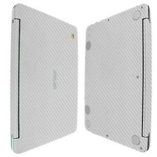 Skinomi Silver Carbon Fiber Skin+Clear Screen Protector for ASUS Chromebook Flip