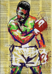 MUHAMMAD ALI ALEC MONOPOLY Canvas 20X30 Inches Wall Art