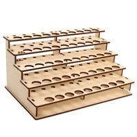 48 Pots Wooden Color Paint Bottle Storage Rack Stand Holder Organizer Model