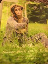 Rowan SIMPLE SHAPES Summerspun and Purelife Revive~BOOK NOT READ~Sarah Hatton~