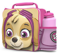 PAW PATROL GIRL Insulated 3D Lunch Bag Box And Drink Sport Water Bottle Set