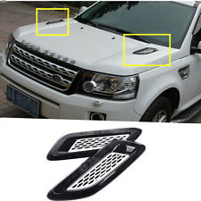 Exterior Hood Air Vent Outlet Wing Trim For Land Rover Freelander 2  2011-2015