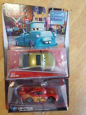 Disney Pixar Cars 2 Tokyo Mater Kaa Reesu and Lightning McQueen Diecast
