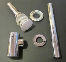 Design Ablaufgarnitur Siphon Pop-Up WEIß Abfluss Ablaufventil Waschbecken Ablauf