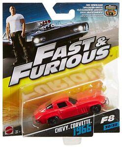 1:55 Fast & Furious 8 Die Cast 1966 Chevy Corvette - No 30 of 32 - FCN87