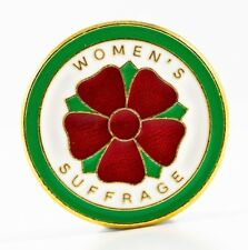WOMEN'S SUFFRAGE -SUFFRAGETTE WOMENS RIGHTS ENAMEL BADGE - REF SUF005