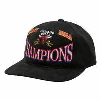 Chicago Bulls Mitchell & Ness NBA Champions Era Deadstock Snapback Hat - Black