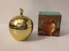 Avon Golden Apple Perfumed Shaped Candle Container Roses Roses Original Box