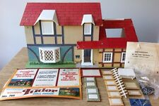 Vintage 1978 Brumberger Wooden Tudor Doll House # 765 Made In USA Toy Dollhouse