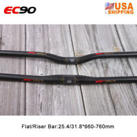 EC90 31.8/25.4mm MTB Handlebar Carbon Fiber Road Bike Flat/Riser Bar 660-760mm