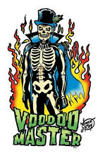 HOT VOODOO MASTER TOP HAT FLAMING SKELETON R/C VINYL STICKER/ DECAL BY VINCE RAY