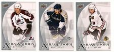 2010-11 Upper Deck 1 Ambassadors of the Game Complete Set of 20 - Kessel Cherry