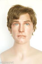 Sunset Brown Blended Light Brown Blond Brunette Medium Human Hair Men Wig