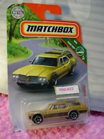 2019 MATCHBOX #13 '71 OLDSMOBILE VISTA CRUISER ☆gold;black dogs☆ROAD TRIP☆case N