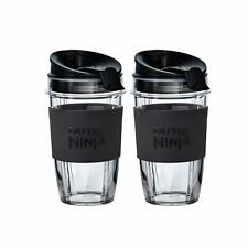 2 x Medium 500ml Nutri Ninja Cups with Two Sip & Seal Lids