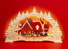 SIKORA LB61 Wooden 3D Illuminated Double Arch Christmas Decoration Schwibbogen