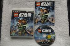 LEGO STAR WARS III 3 THE CLONE WARS PS3 PLAYSTATION 3 V.G.C. FAST POST COMPLETE