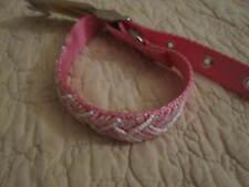 "Hanover Accessories Impawsters Fushia Webbing Pink sz M collar 14""-17"" NWT"