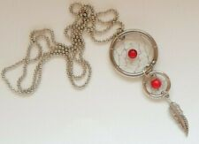 Dreamcatcher Necklace Pendant - Red Stone Plus Mini Dreamcatcher - Valentines