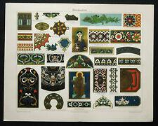 1889 ORIG.ANT.CROMOLITO=DISEGNI ARTISTICI A PITTURA=..