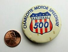 NASCAR Charlotte Motor Speedway National 500 Collectible Pinback Button #1770