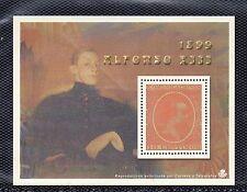 España Alfonso XIII hoja recuerdo de la emisión del año 1899 (CE-326)