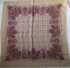 BURBERRYS   Superbe Châle laine et soie  TBEG vintage Scarf  130 x 140 cm