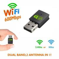 300Mbps Dual Band USB WiFi Dongle Wireless LAN Adapter 802.11ac 5Ghz/2.4Ghz