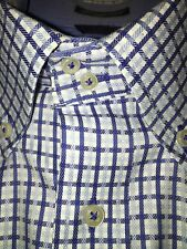 Tommy Hilfiger light/Blue/White Checked Long Sleeve 100% Cotton Men's Shirt-M