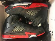 NEW AIR JORDAN V RETRO 5 BRED SATIN BLACK GYM RED SHOE 136027-006 MEN SIZE 8
