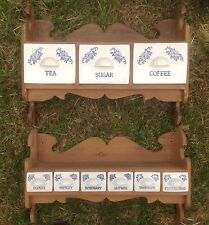 Porcelain Coffee/Tea/Sugar and Spice Racks