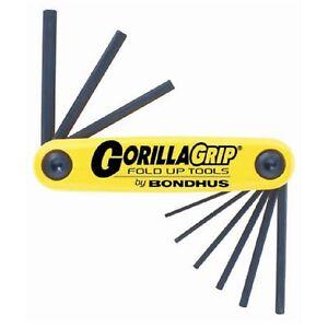 Bondhus Gorilla 9 Piece Imperial Fold Up Hex Allen Key Set