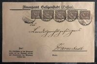 1923 Hessen Germany Inflation Rate Commercial  Cover To Darmstadt MXE