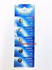 5 X EUNICELL CR1220 3 VOLT LITHIUM BUTTON/COIN CELL BATTERIES
