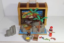 Lot of Playmobil/Geobra Pirate Chest Storage Figures Trees Monkey FREE US SHIP