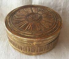 BOITE-TABATIERE de forme ronde en pomponne, Epoque Louis XVI, Diamètre 7 cm