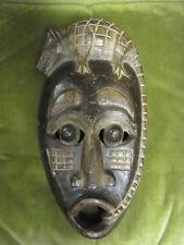 Vintage Bali Wood Carved Lizard Mask