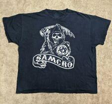 Sons Of Anarchy SOA Chalk Logo Samcro Reaper Crew Motorcycle Biker T Shirt 3XL