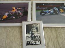 3 Framed unique Photos F1 Motor Car racing Antonio felix de Costo Red bull