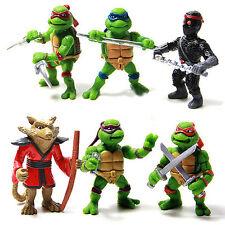6pcs Teenage Mutant Ninja Turtles TMNT Collectible Action Figures Doll Kids Toy