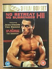 JEAN CLAUDE VAN DAMME no retreat surrender 1 2 3 Artes Marciales Trilogy GB DVD