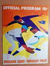 1967 Chicago Cubs signed program : 8 Los Angeles Dodgers AUTOGRAPHs/ 1968 WS scd