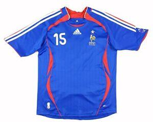 Adidas 2006 France Lilian Thuram Soccer Jersey Womens XL Blue