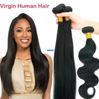 3 bundles 300g Remy Virgin Human Hair Extensions Brazilian Peruvian Indian Weave