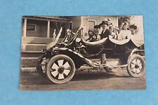 VINTAGE 1911 RPPC REAL PHOTO POSTCARD FAMILY IN PARADE CAR McMINNVILLE OREGON