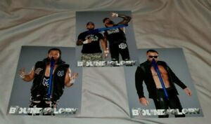 IMPACT Wrestling Lot of 3 BFG 8x10 photos - GOOD BROTHERS * HEATH * BRIAN MYERS