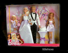 Barbie Traumhochzeit Geschenkset 4 Puppen-Set Hochzeit DJR88 NEU/OVP
