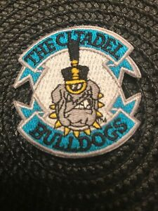 """The Citadel Bulldogs Vintage Embroidered Iron-On Patch Old Stock 2"""" X 2"""""""