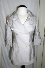 Beige French style trench coat jacket Size 8 - 10 NEW