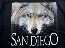 Vintage '80's Nwt San Diego Zoo American Grey Wolf Black Ss T Shirt Size L
